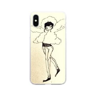 もこもこうわぎちゃん Soft clear smartphone cases
