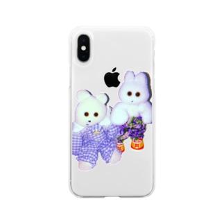 くまきちときんたろう Soft clear smartphone cases
