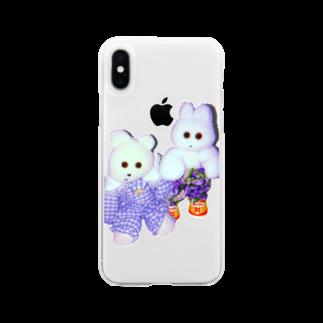 RAITYO TSUMEのくまきちときんたろう Soft clear smartphone cases