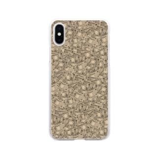 お金/万札 Soft clear smartphone cases