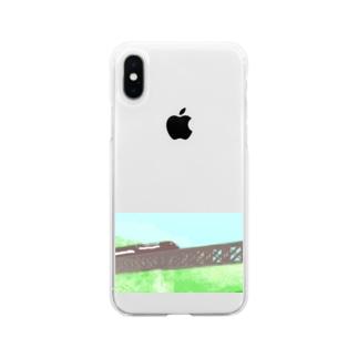 山岳鉄道 Soft clear smartphone cases