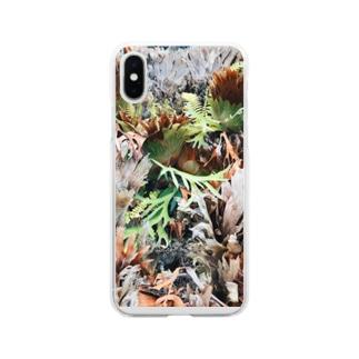 エキゾチック植物 Soft clear smartphone cases