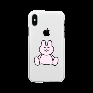 わかるのうさぎ Soft clear smartphone cases