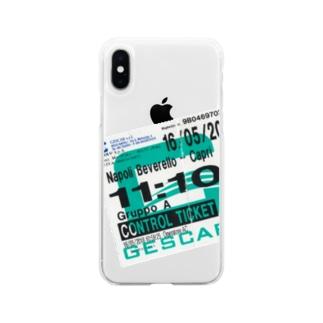 ナポリからカプリ島へのチケット Soft clear smartphone cases