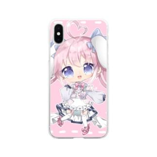 きゅるるんなのちゃん Soft clear smartphone cases
