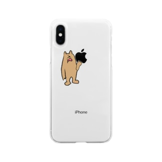 ごはんどーするクマ Soft clear smartphone cases
