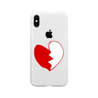 ぶれいきんはーと Soft clear smartphone cases