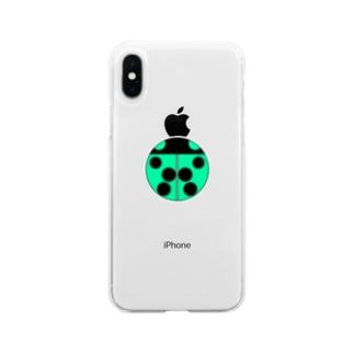 てんとう虫 Soft clear smartphone cases