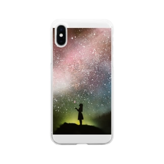 spray art satoshi Soft clear smartphone cases