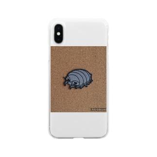 ダイオウグソクムシムシくん Soft clear smartphone cases