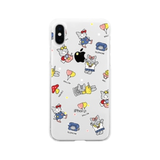 CRAZY KITTENS スマホケース Soft clear smartphone cases