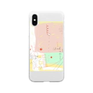 血かくか瓶 Soft clear smartphone cases