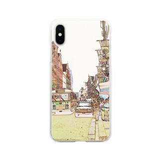 CG絵画:ブリュージュの風景 CG art: Bruges Soft clear smartphone cases