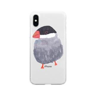 桜文鳥 Soft clear smartphone cases