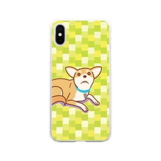 テトさん(犬) Soft clear smartphone cases
