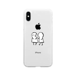 あなた が たいせつ。(文字なし) Soft clear smartphone cases