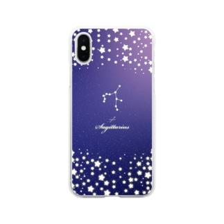 12星座 誕生日 星空 射手座 #053 Soft clear smartphone cases