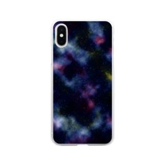 銀河 ギャラクシー 1 Soft clear smartphone cases