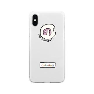 のーまんじゅう Soft clear smartphone cases