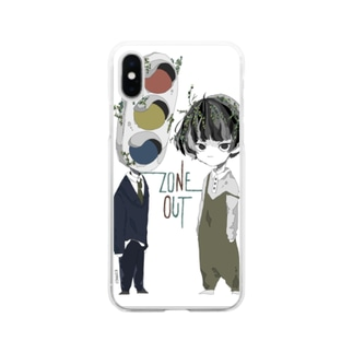 風化族ペア Soft clear smartphone cases