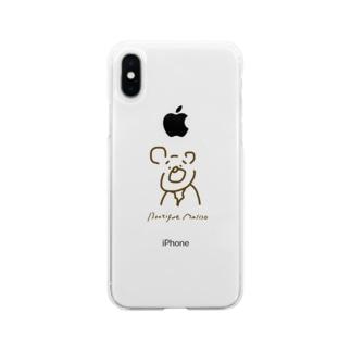 シックなくまごろう Soft clear smartphone cases