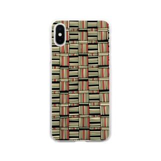 レトロパターン Soft clear smartphone cases