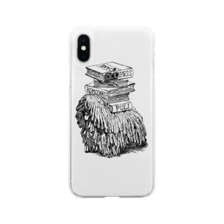 プーリー蔵書票 Soft clear smartphone cases