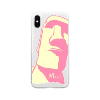 Moai君 Soft clear smartphone cases
