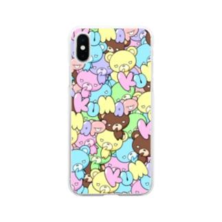 カラフルくまっぷ-ソフトスマホケース Soft clear smartphone cases