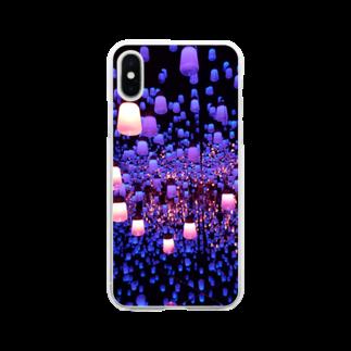 alpha8110のきらきら Soft clear smartphone cases