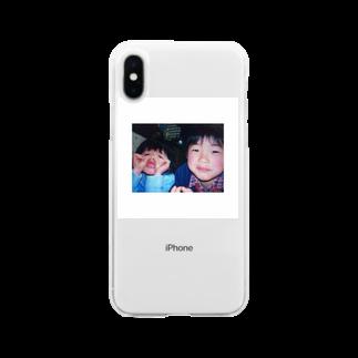 poifuru_popopoのカナザキさん子供バージョン Soft clear smartphone cases