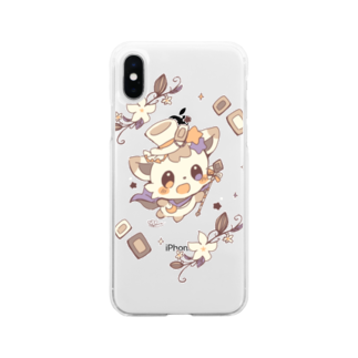 pohemochiのチョコターフェ Soft clear smartphone cases
