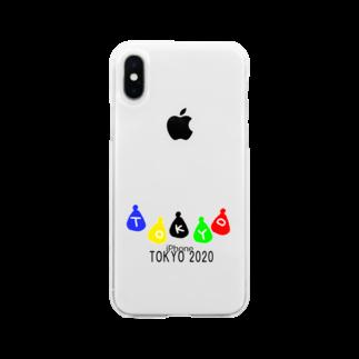 momogonのTOKYO2020ギフト Soft clear smartphone cases