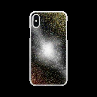 yodareyodareのcolorful 宇宙 縦 Soft clear smartphone cases