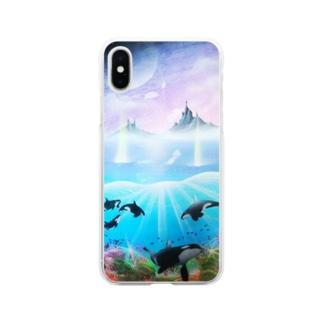 スプレーアート2World Soft clear smartphone cases