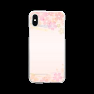 orange_honeyの桜31 Soft clear smartphone cases