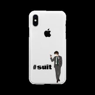 ショップ koのマスク 缶バッチさん Soft clear smartphone cases