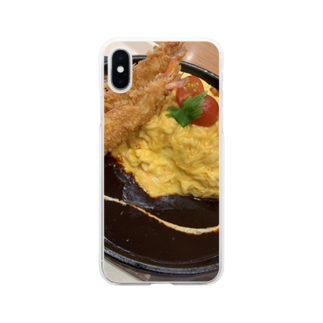 ayakaのオムライス Soft clear smartphone cases