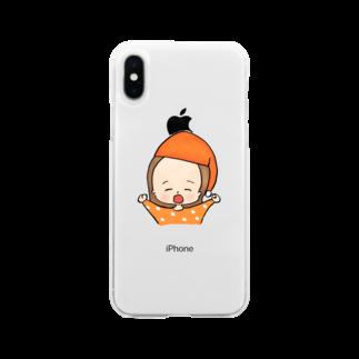おで子、前を向け!/おで子ヒカル👨🏻🦲のおでこヒカルちゃん おねむモード Soft clear smartphone cases