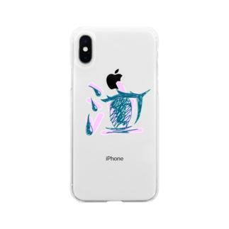 泣 Soft clear smartphone cases