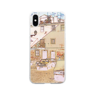 FUCHSGOLDのCG絵画:アルファマの風景画 CG art: Alfama / Lisboa (Lisbon) Soft clear smartphone cases