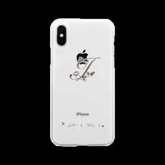 sonoteniのアルファベット イニシャル ボタニカル I #137  Soft clear smartphone cases