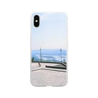 ポルトガル:ヴィアナ・ド・カステロの風景写真 Portugal: Rio Lima / Viana do Castelo Soft clear smartphone cases