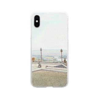 FUCHSGOLDのCG絵画:ヴィアナ・ド・カステロの風景画 CG art: Rio Lima / Viana do Castelo Soft clear smartphone cases