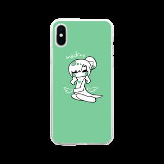 rn_clockの天使みしん Soft clear smartphone cases