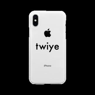 twiye_shopのtwiye offcial logo Soft clear smartphone cases