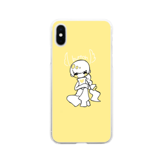 rn_clockの天使ぼたん Soft clear smartphone cases