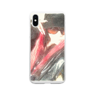 Lost'knotの中ノ紅イ人間 Soft clear smartphone cases