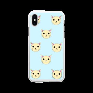 アトリエみやまの子猫 Soft clear smartphone cases