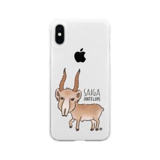 サイガくん Saiga Antelope Soft clear smartphone cases
